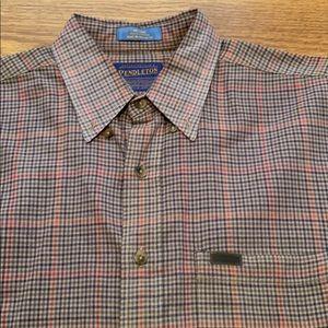 Pendleton men's plaid button front shirt